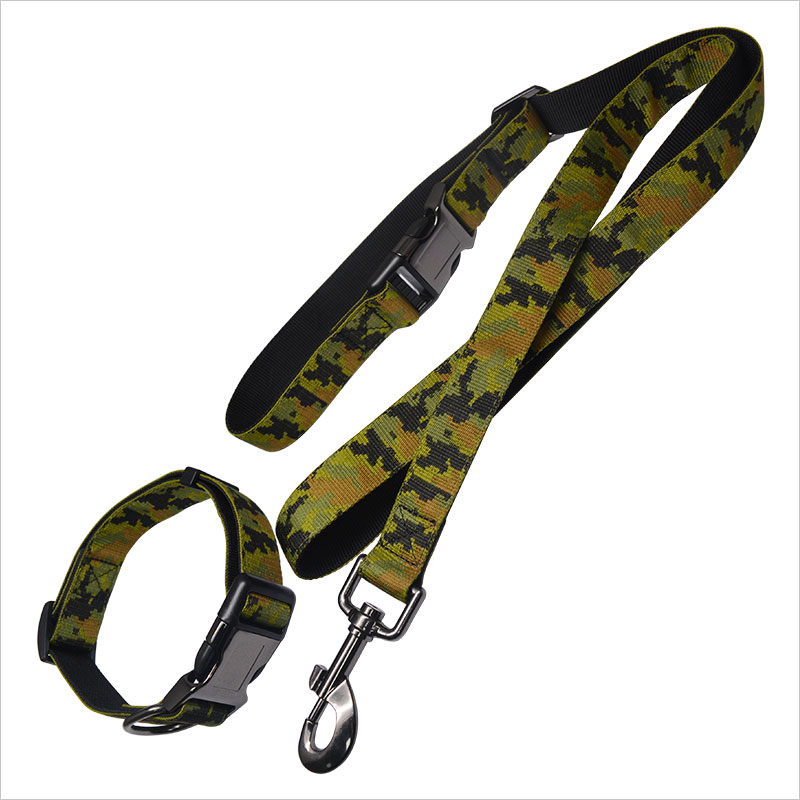 Camouflage Dog Collar And Leash